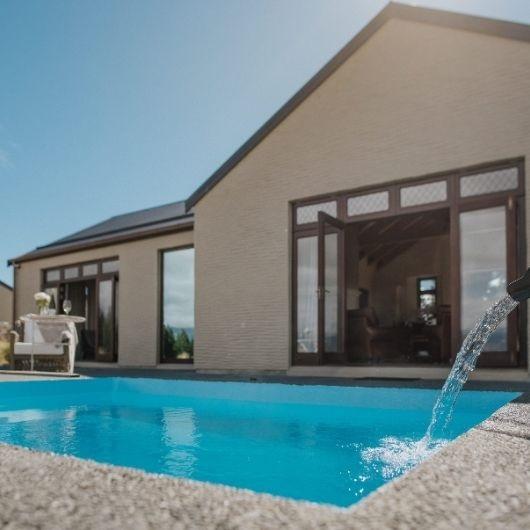 hot tub at luxury villa