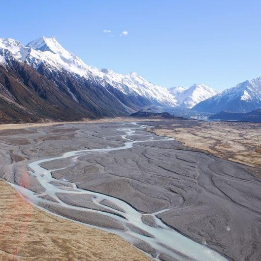 Helicopter Flight up Tasman Valley to Glacier Mt Coook NZ
