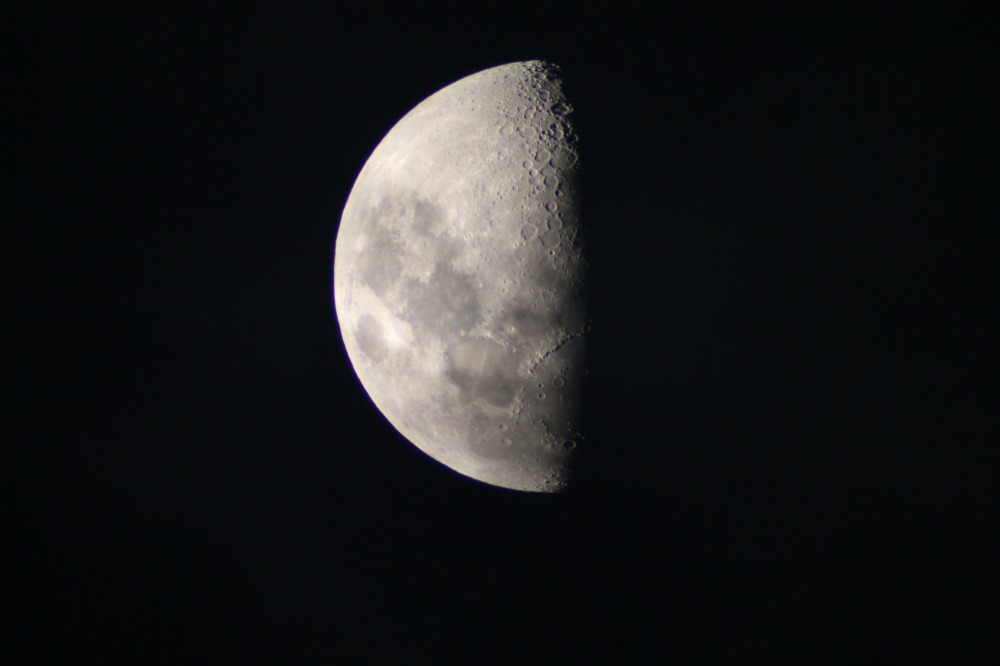 deep space astrophotography of the moon