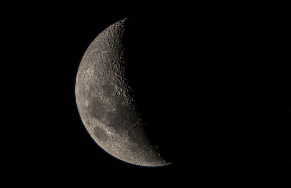 deep space astrophotography of luna