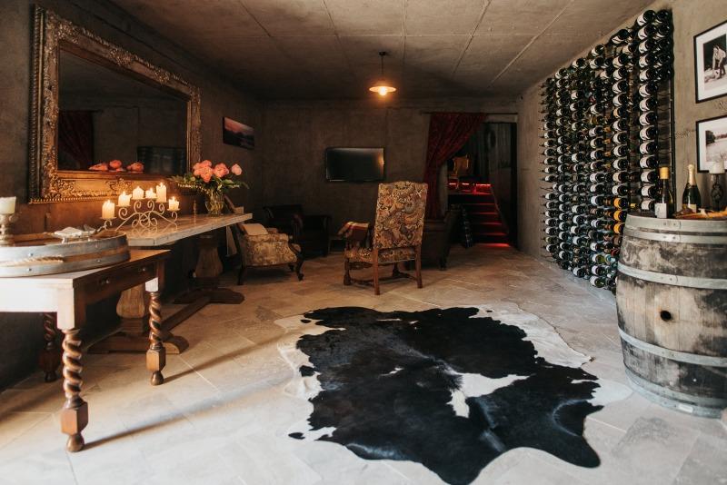 interior view of pukaki wine cellar and observatory