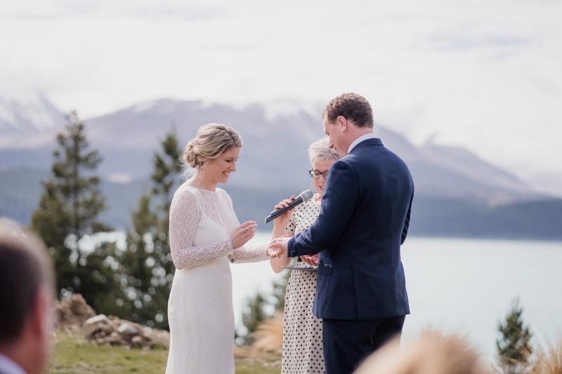mt cook lakeside retreat lake pukaki wedding