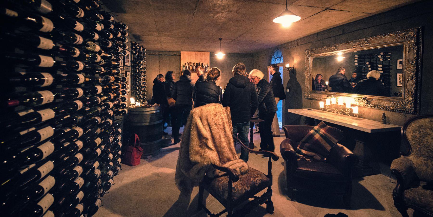 pukaki wine cellar and observatory group gathering