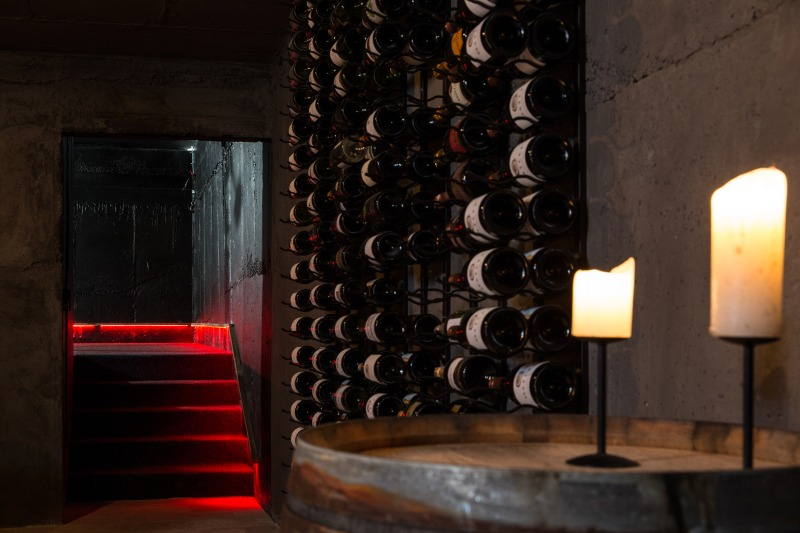 pukaki wine cellar and observatory interior