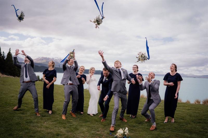 wedding celebration at mt cook lakeside retreat
