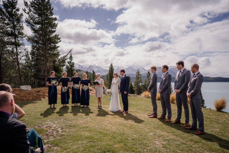 wedding ceremony at mt cook lakeside retreat